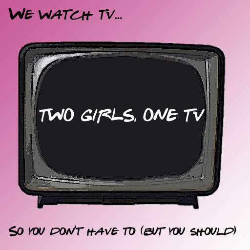 two girls, one tv.